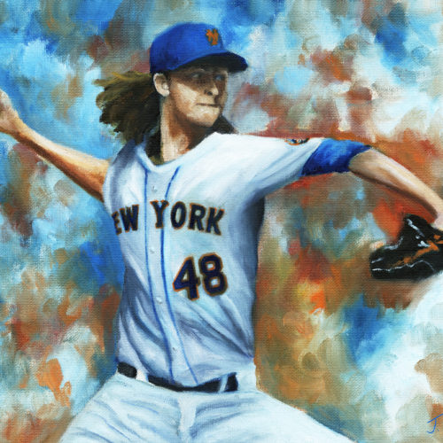 deGrom Oil Painting