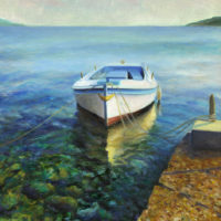 Martinscica Boat Oil Painting