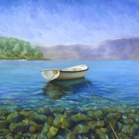 Waiting Boat Oil Painting