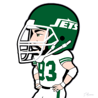 Marty Lyons Jets Toon